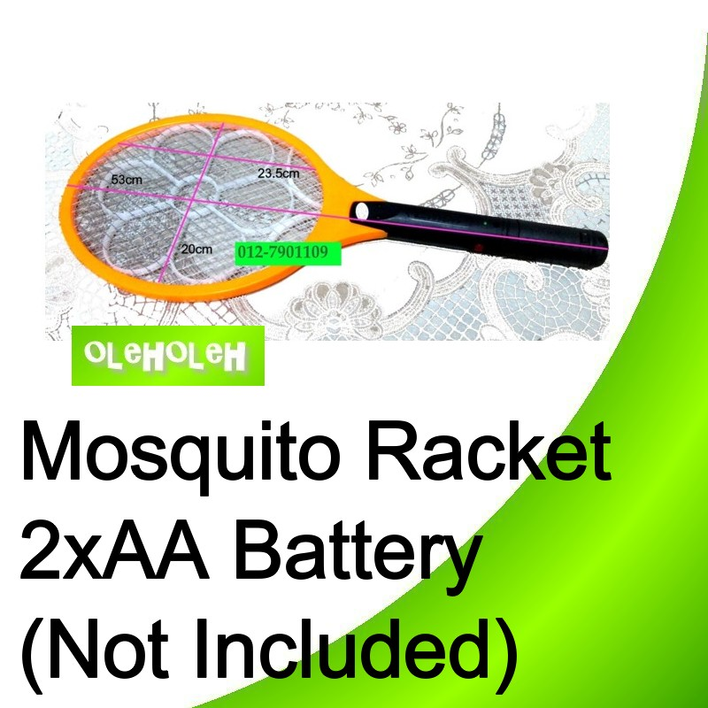Battery Electric Insect Bug Wasp Mosquito Zapper Swatter Racket