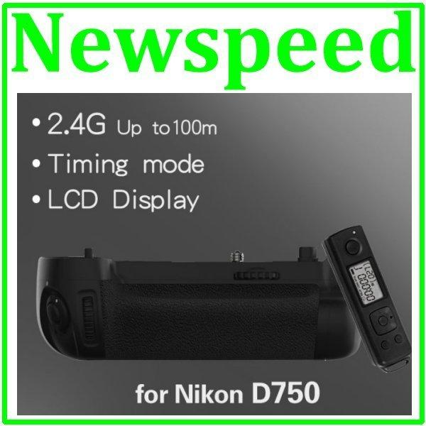 Battery Grip for Nikon D750 w/ Wireless Timer Remote Control