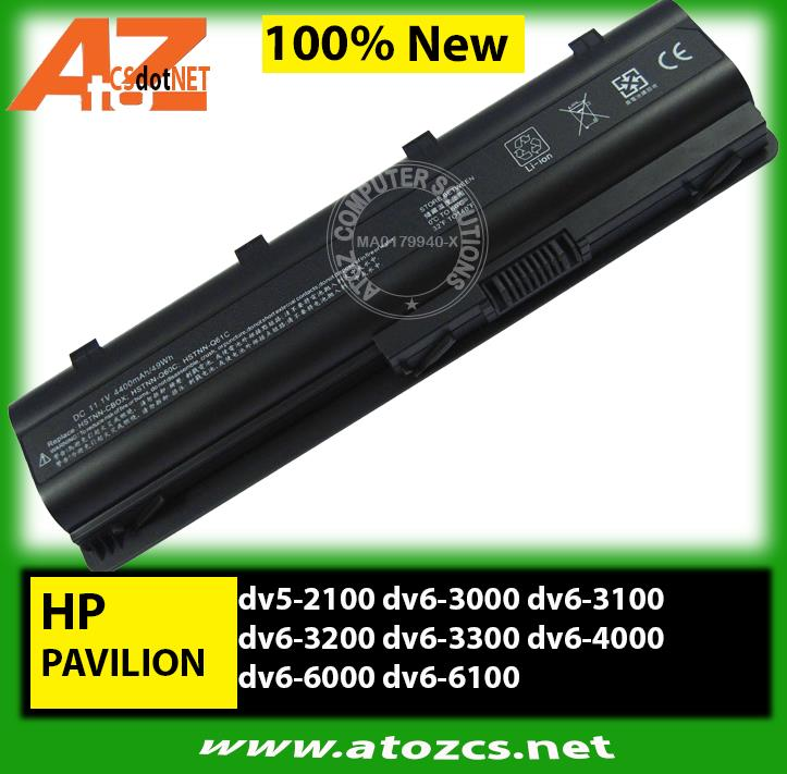 Battery HP Pavilion dv5-2100 dv6-3000 dv6-3100 dv6-3200 dv6-3300