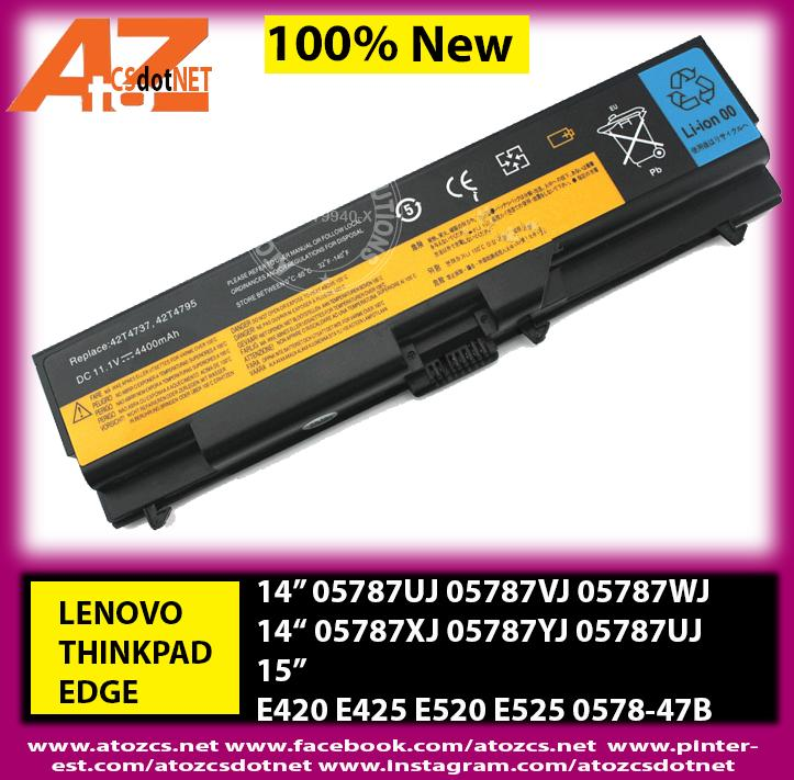 Battery LENOVO THINKPAD EDGE 14 15 E420 E425 E520 E525 0578-47B