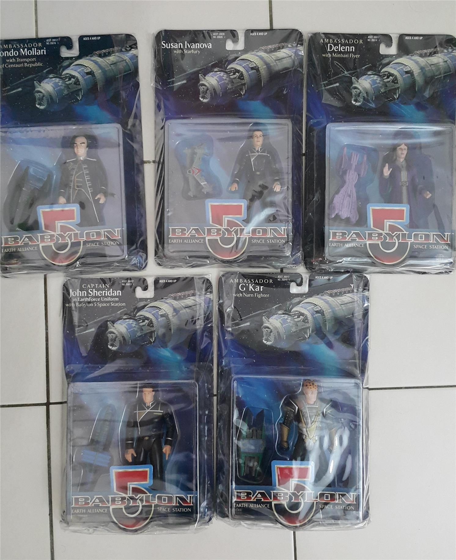 BC - BABYLON 5 - VINTAGE - MIB - SET OF 5 MINT NEW