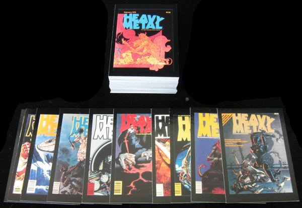 BC - TRADING CARDS SET  - THE ART OF HEAVY METAL - 1991 COMIC IMAGES