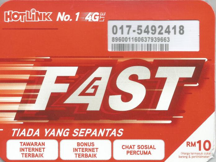 *bdl* -- New Hotlink Fast Plan - 017-5492418 for Auction **