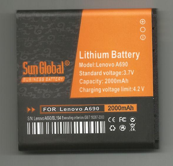 *bdl* -- Sun Global Battery Lenovo A690/A780/BL194   **