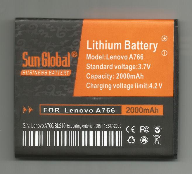 *bdl* -- Sun Global Battery Lenovo A766/S820/BL210  **