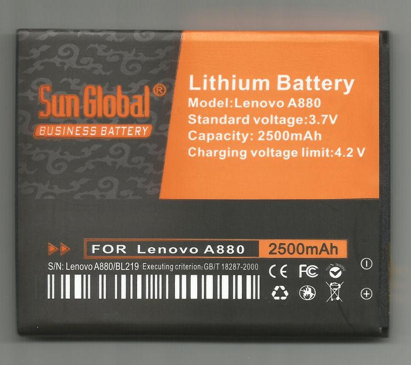 *bdl* -- Sun Global Battery Lenovo A880/BL219 **