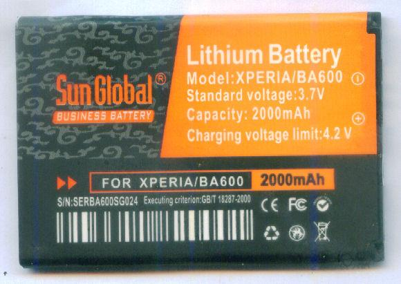 *bdl* - Sun Global Battery SonyErcsson Xperia U/BA600  *