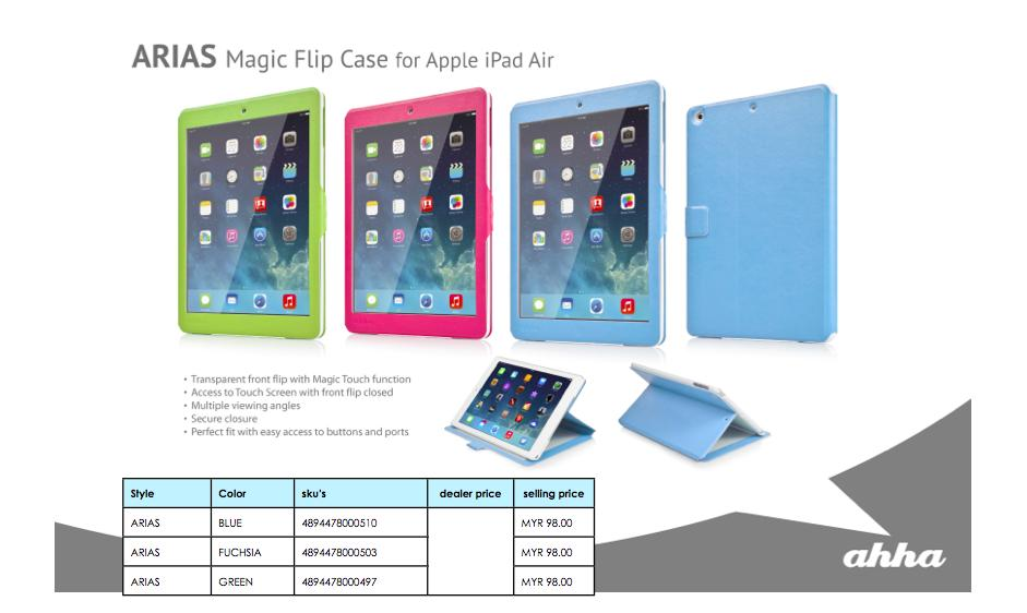 Bdotcom = Apple iPad Air Ahha ARIAS Magic Flip Case