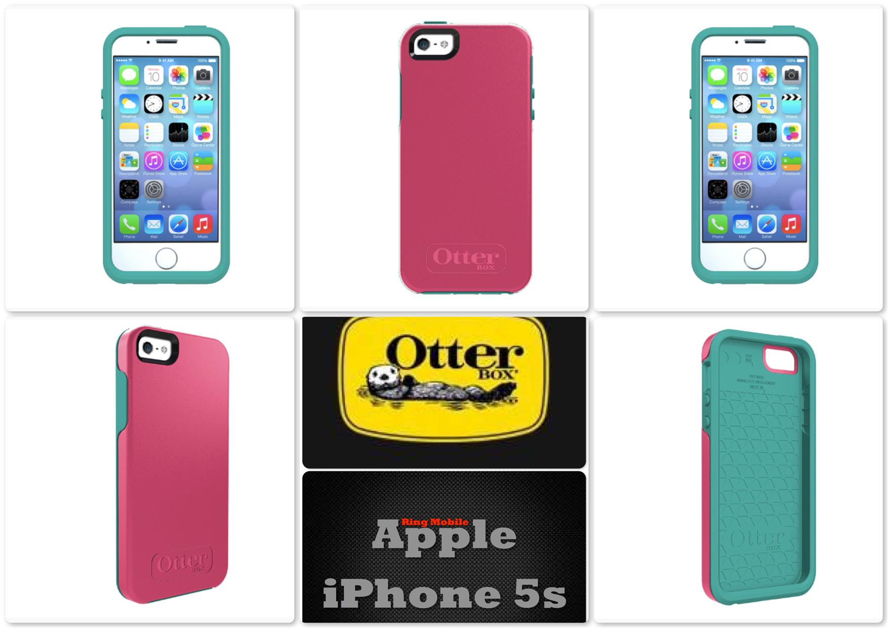 Bdotcom = Apple iPhone 5 5s Otterbox Symmetry Series @ Teal Rose
