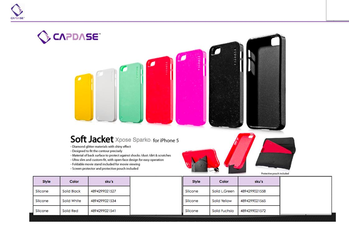Bdotcom = Apple iPhone 5 Capdase Soft Jacket Sparko