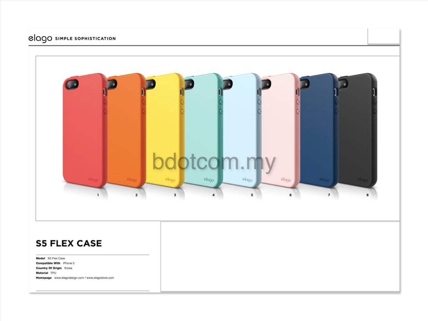 Bdotcom = Apple iPhone 5 Elago S5 Flex Case