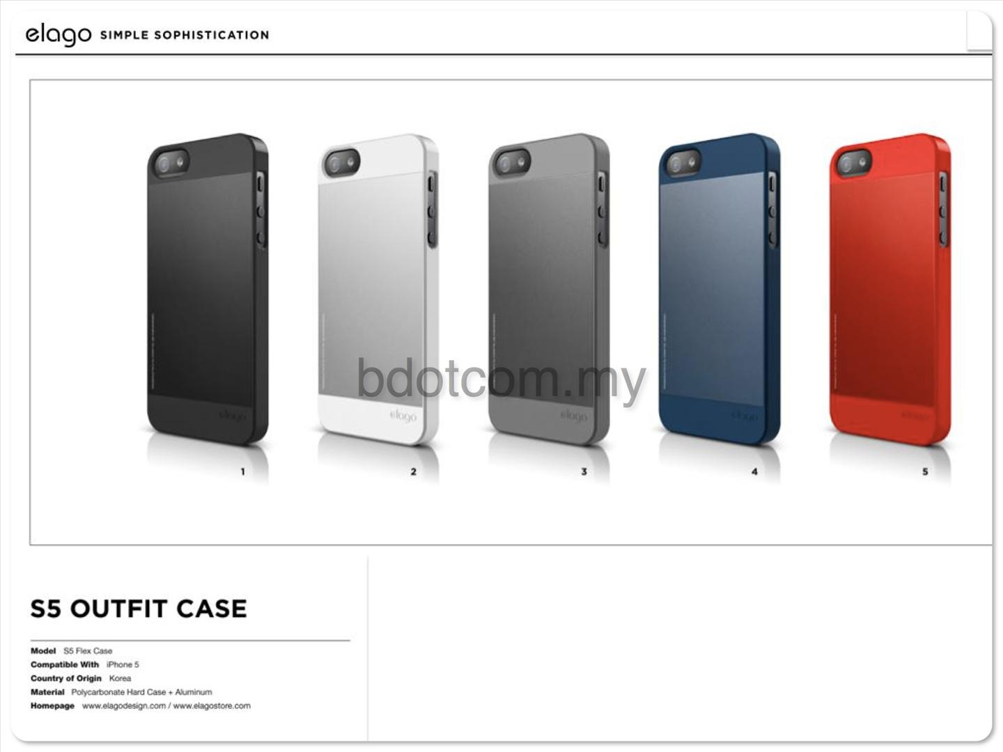 Bdotcom = Apple iPhone 5 Elago S5 OutFit Case