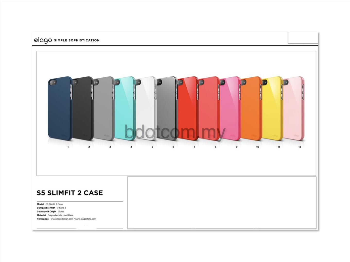 Bdotcom = Apple iPhone 5 Elago S5 SlimFit Case
