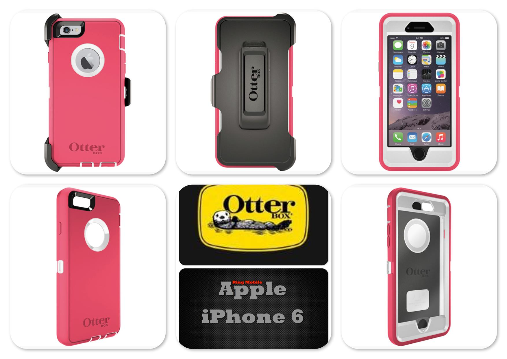 "Bdotcom = Apple iPhone 6 4.7"" Otterbox Defender Series Case Neon Rose"