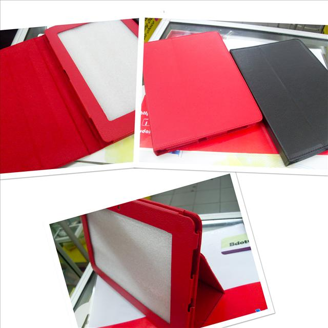 bdotcom = Asus EE pad transformer leather case = red