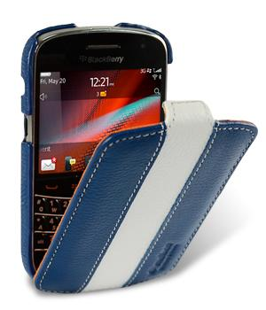 Bdotcom = Blackberry Bold Touch 9900 Melkco Jacka Leather Flip Blue White