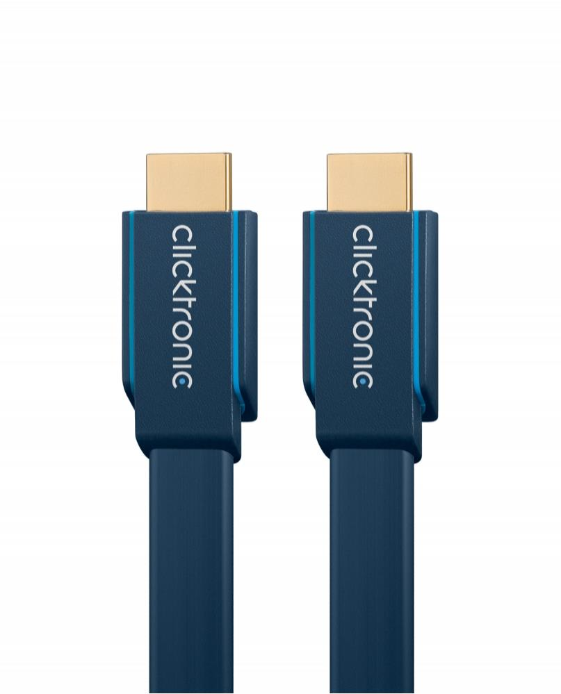 Bdotcom = ClickTronic High Speed HDMI Flat Cable with Ethernet