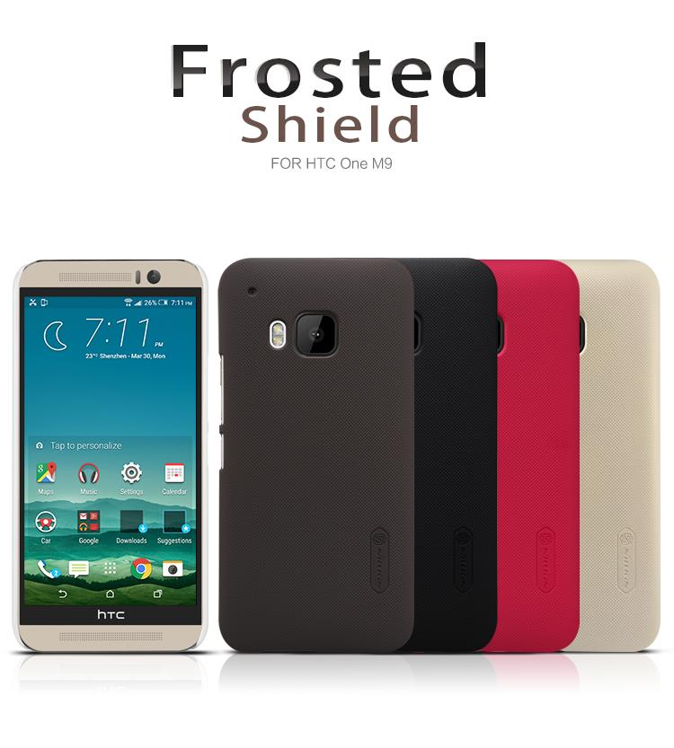 Bdotcom = HTC One M9+ Nillkin Frosted Shield Cover Sand Case
