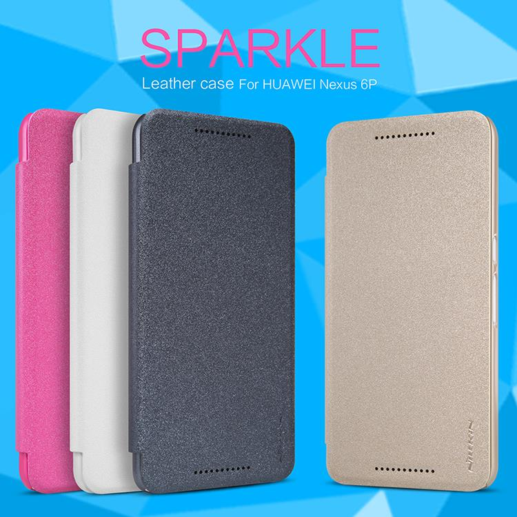 Bdotcom = Huawei Nexus 6P Nillkin Sparkle Series Leather Flip Case