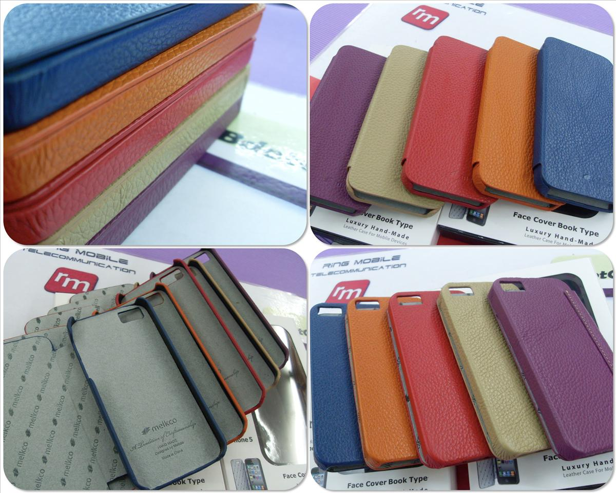 bdotcom = iphone 5 melkco face cover book type leather case =