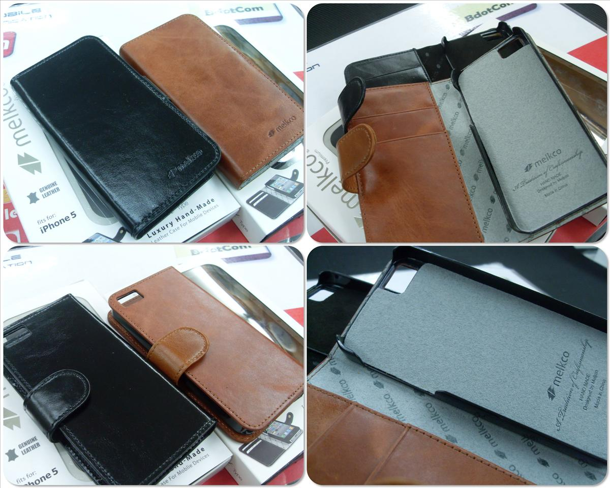bdotcom = iphone 5 melkco wallet book type leather case = vintage colo..