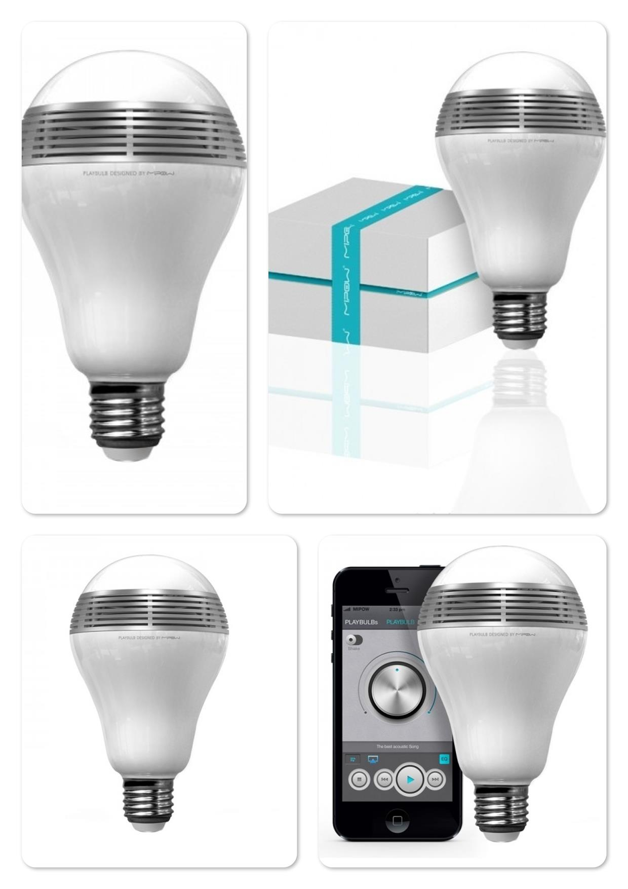Bdotcom = Mipow PlayBulb - Bluetooth Smart LED Speaker Lightbulb