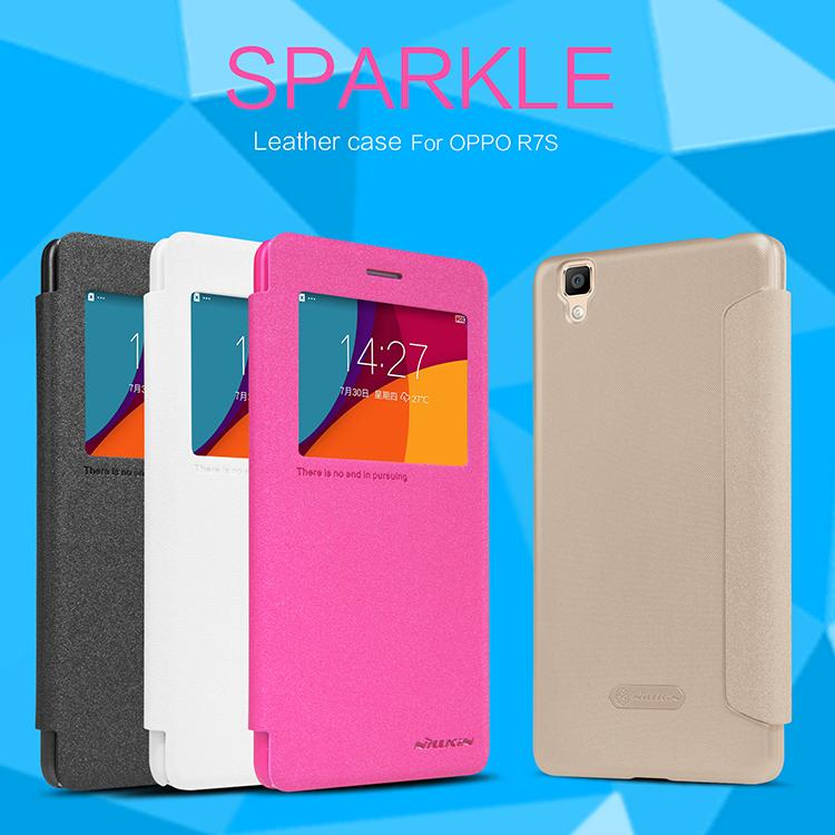 Bdotcom = Oppo R75 Nillkin Sparkle Series Leather Flip Cover Case