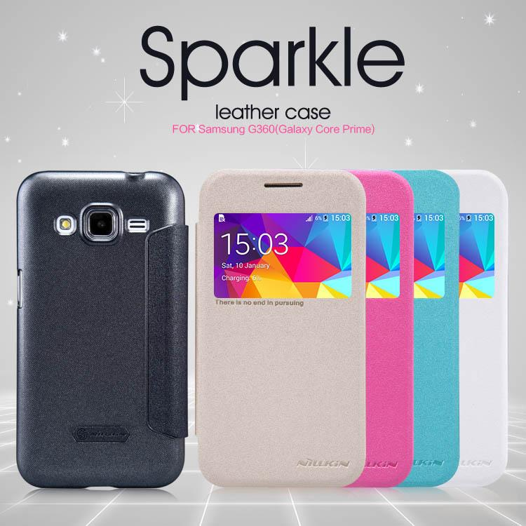 Bdotcom = Samsung Galaxy Core Prime Nillkin Sparkle Leather Case