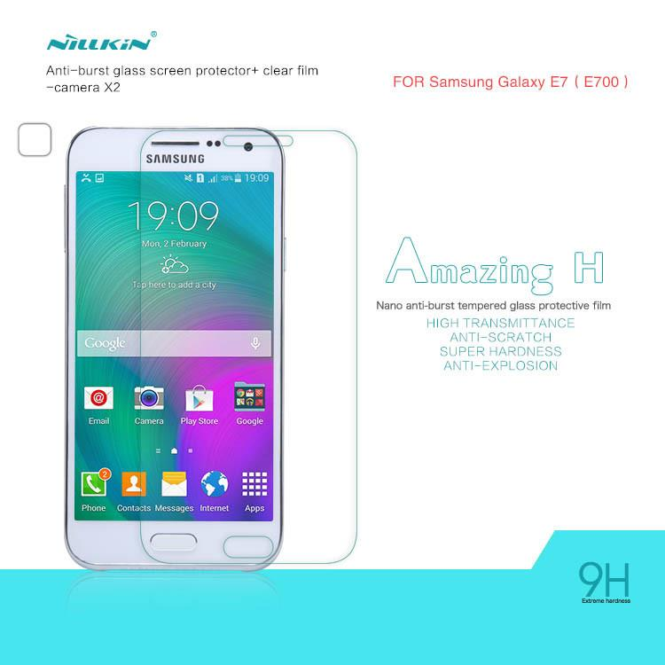 Bdotcom = Samsung Galaxy E7 Nillkin Anti Explosion H Tempered Glass