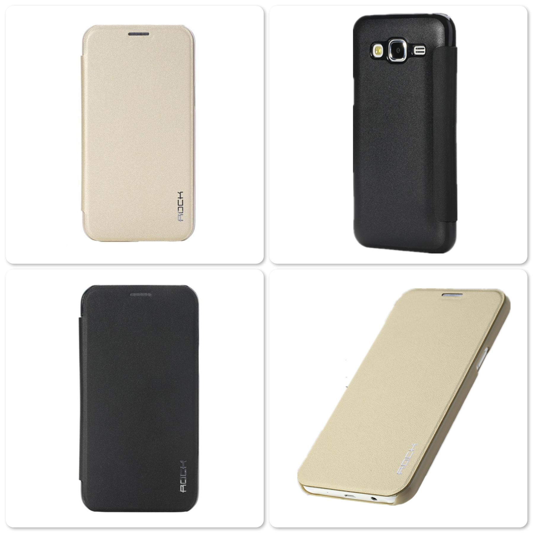 Bdotcom = Samsung Galaxy J5 Rock Delight series Leather Case