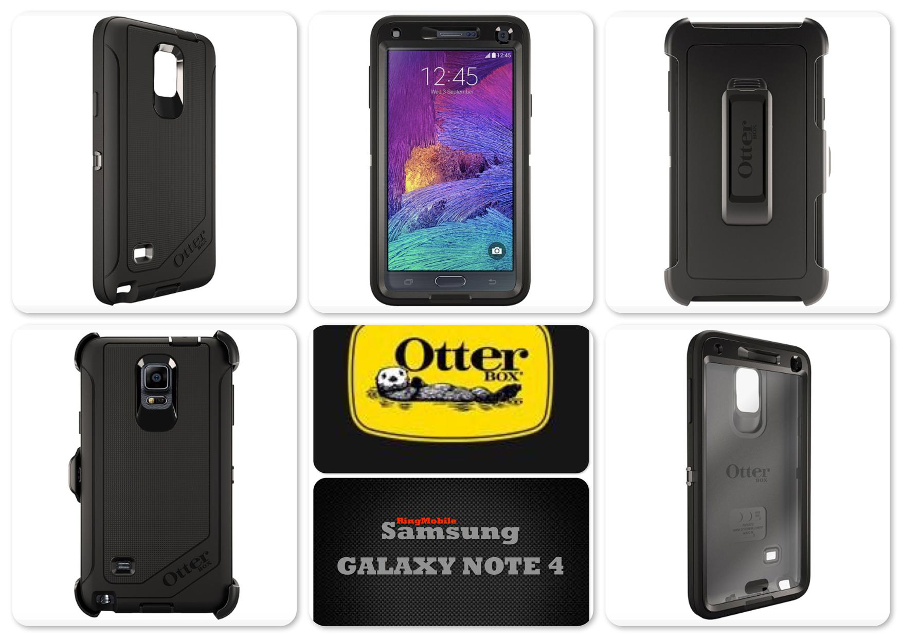 Bdotcom = Samsung Galaxy Note 4 Otterbox Defender Series = BLACK