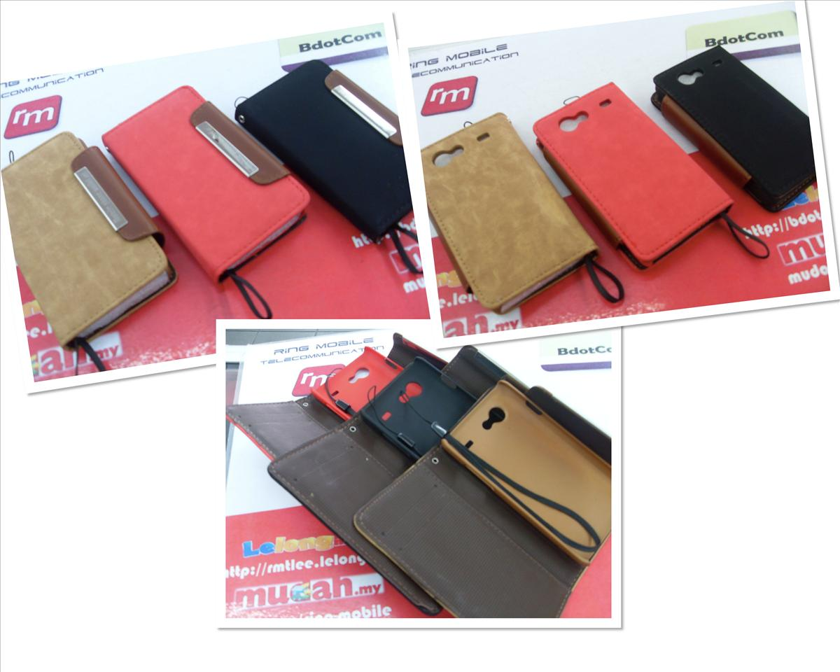 bdotcom = samsung galaxy s advance book type  leather case kalaideng =