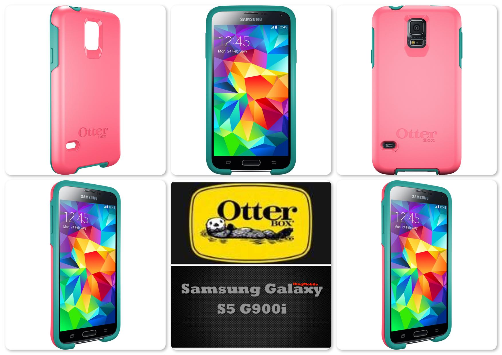 Bdotcom = Samsung Galaxy S5 Otterbox Symmetry Series Teal Rose