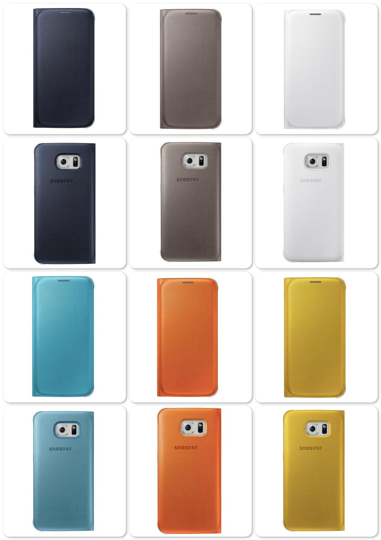 Bdotcom = Samsung Galaxy S6 Flip Wallet Cover = Original