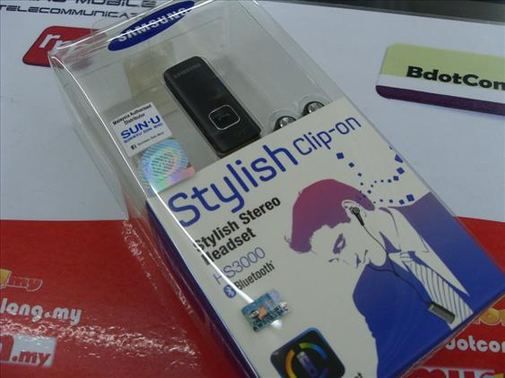 bdotcom = samsung HS3000 stereo bluetooth clip on headset =