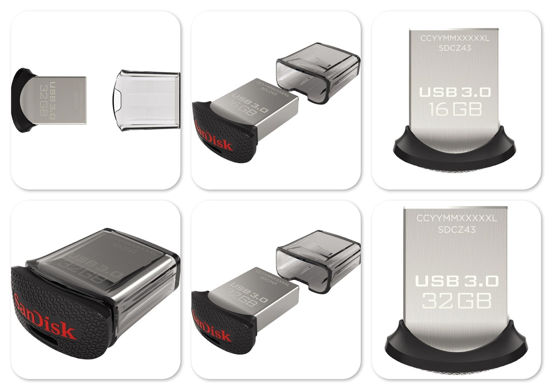 Bdotcom = SanDisk USB 3.0 32GB Ultra Fit Flash Drive Thumb Drive