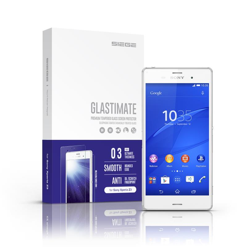 Bdotcom = Sony Xperia Z3 Siege Glastimate Premium Tempered Glass
