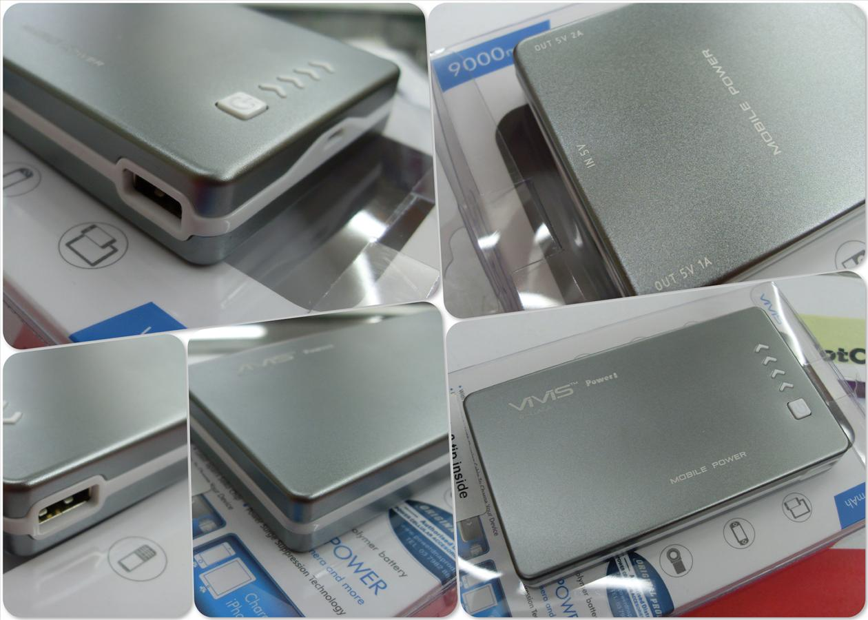 bdotcom = vivis 9000 mah power bank = universal battery
