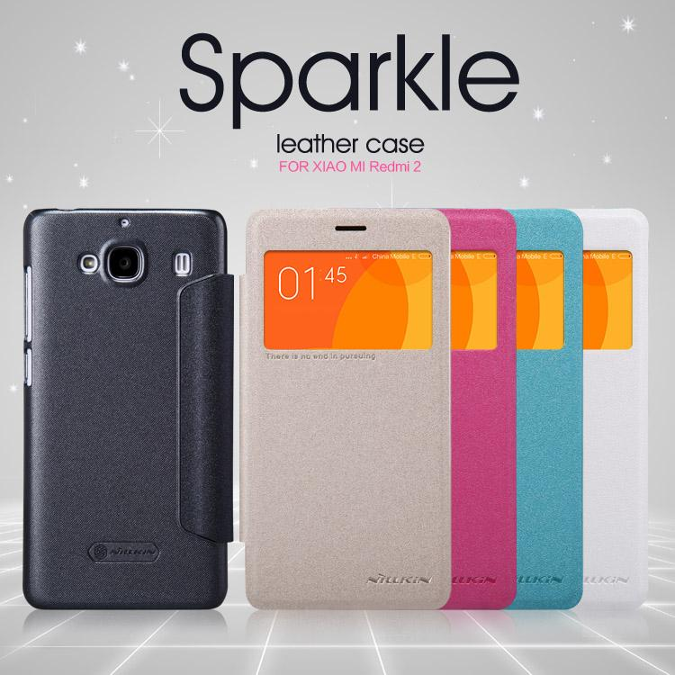 Bdotcom = Xiaomi Redmi2 Nillkin Sparkle Series Leather Flip Cover Case