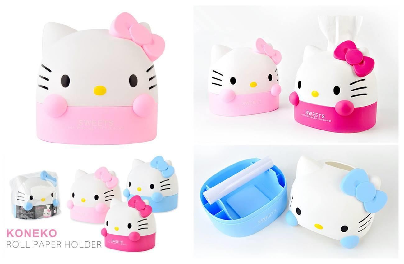 BE0056 HELLO KITTY TISSUE HOLDER