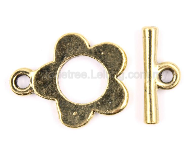 finding bead toggle clasp pewter bead metal end 4 5