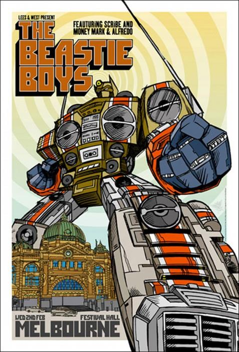 "The Beastie Boys - Festival Hall Melbourne Gig poster (27.5"" x 19"")"