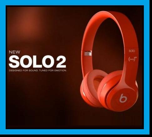 BEATS Solo 2 Wireless Bluetooth Headset Headphone FM AUX OEM MIC