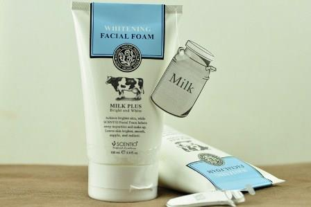 Beauty Buffet Scentio Milk Plus Whitening Q10 Facial Foam牛&#229..