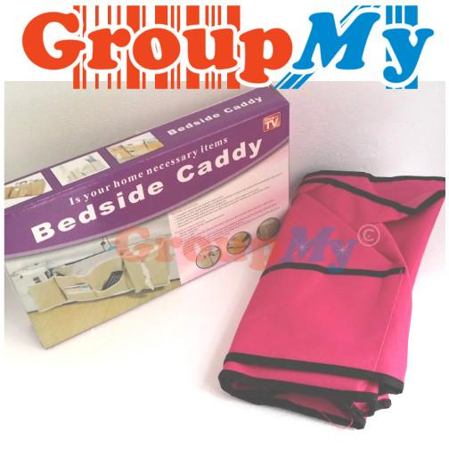 Bedside Caddy Multifunction Bed Organiser Book Remote Tissue Storage