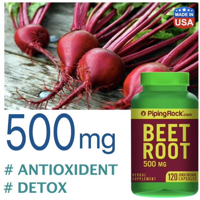 Beet Root 500mg, 120 Caps (Blood Detox, Antioxident, Anti-Aging) USA
