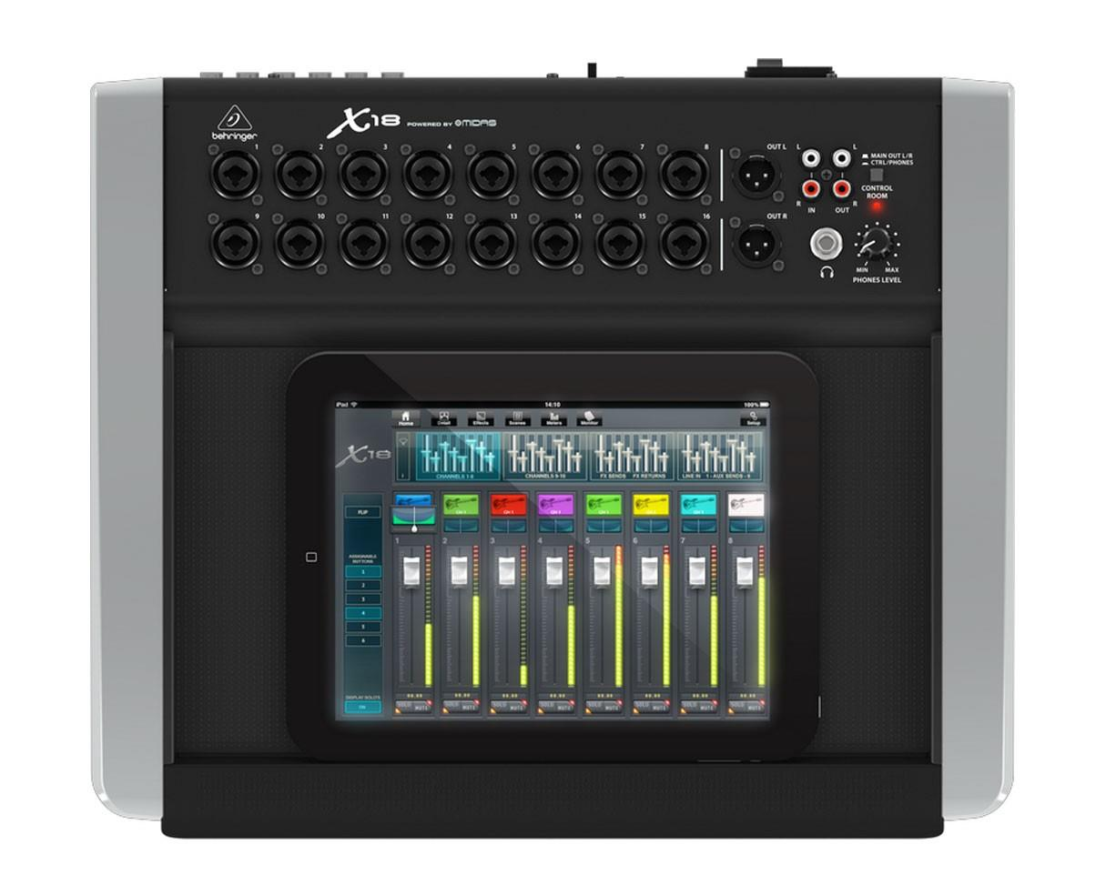 Behringer X18 Compact 18-Input Digital iPad Tablet Mixer X18