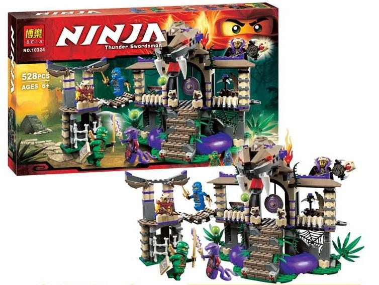 Bela 10324 Ninjago Enter The Serpent Castle Ninja Minifigure Building ..
