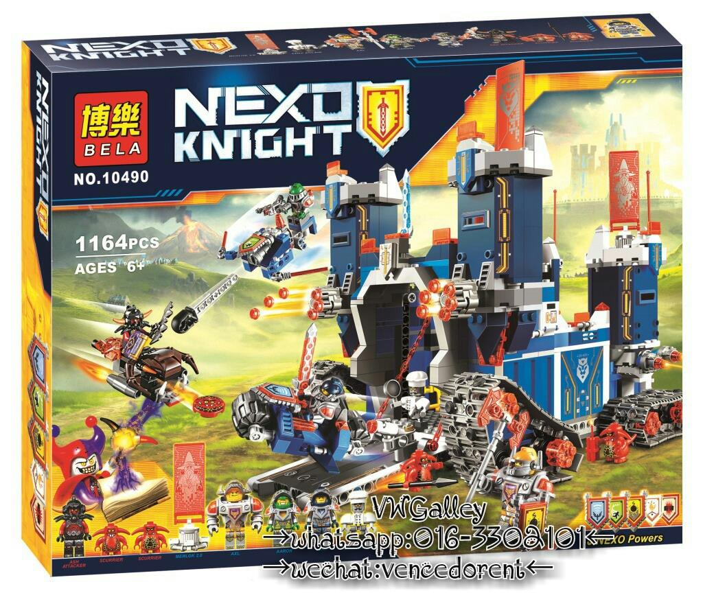 Bela 10490 Lepin 14006 LELE 79241 Nexo Knights The Fortrex