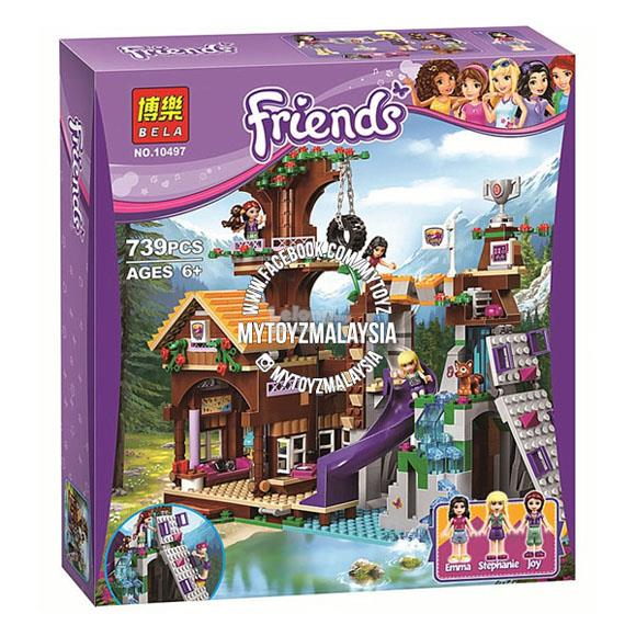 Bela 10497 Friends: Adventure Camp Tree House Building Blocks